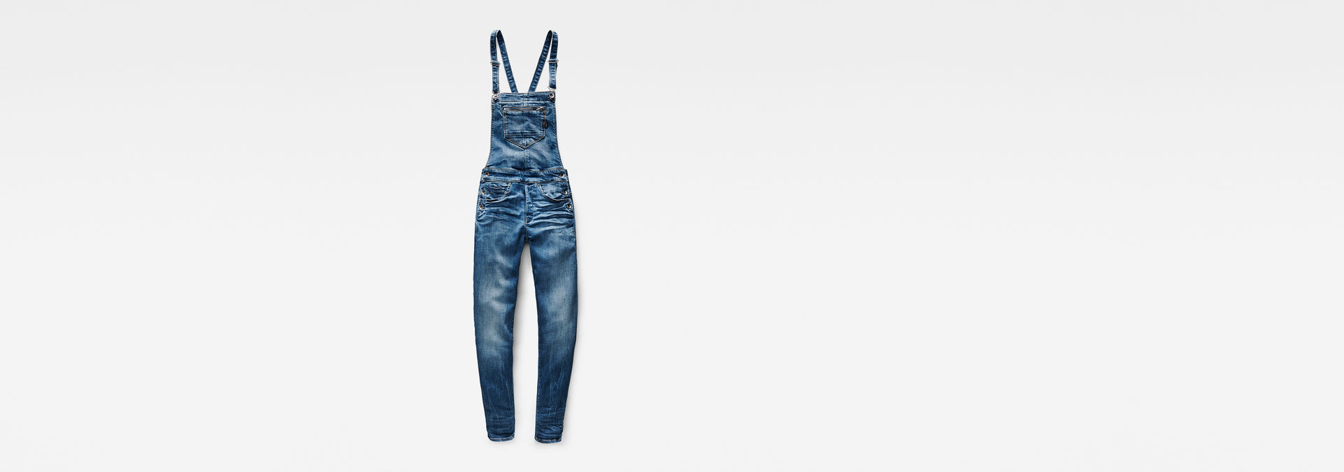 96dd6186126 ... G-Star RAW® Midge Slim Overalls Medium blue flat front ...
