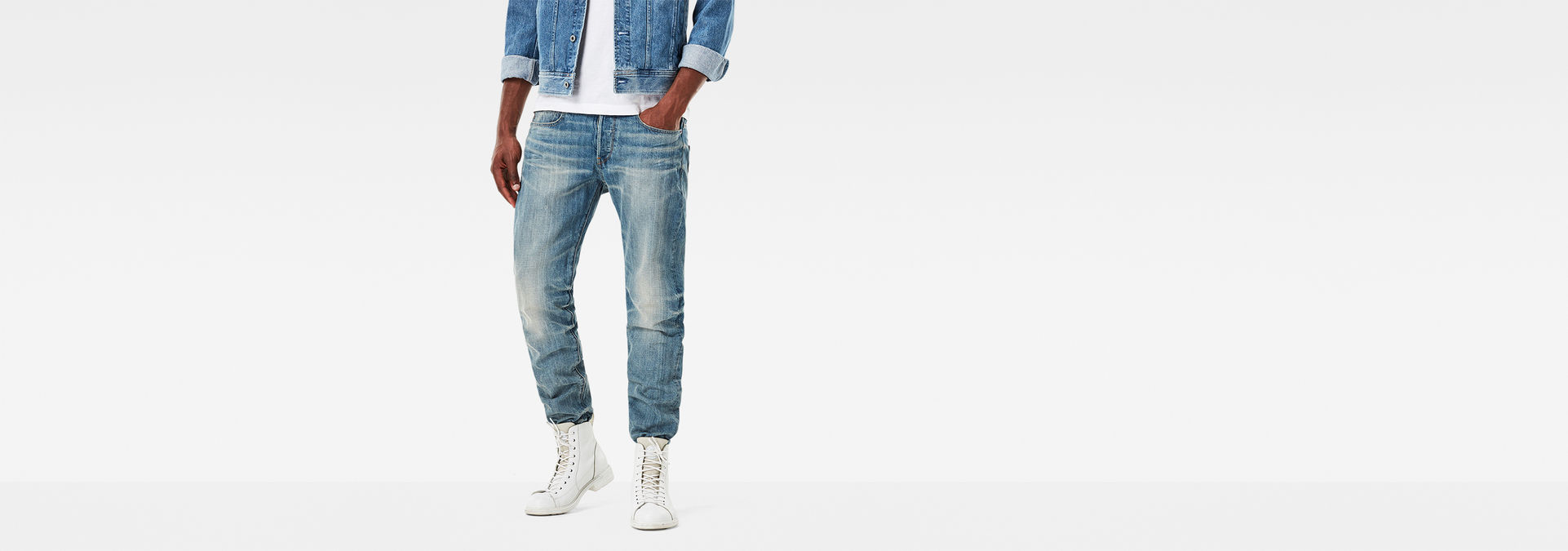 Riban Tapered Jeans | Light Vintage Aged | Hommes | G Star RAW®