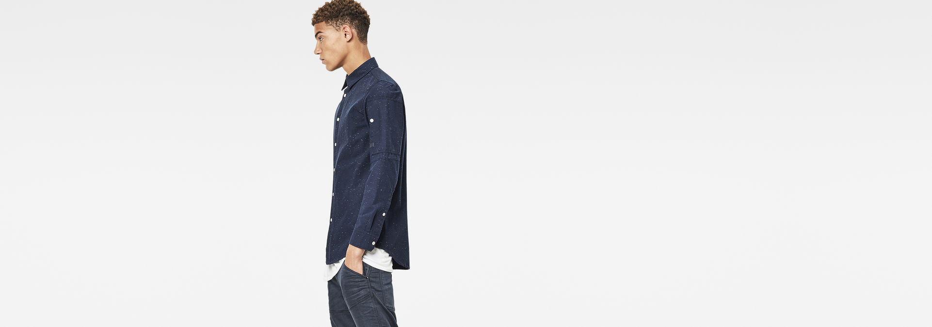 new product 863eb 3a53a Stalt Clean Long Shirt | enzyme Wash | Men | G-Star RAW®
