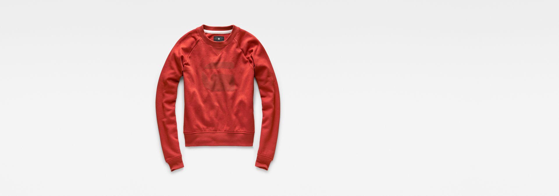 G-Star Raw Womens Xula Cropped Sweatshirt Antic Red
