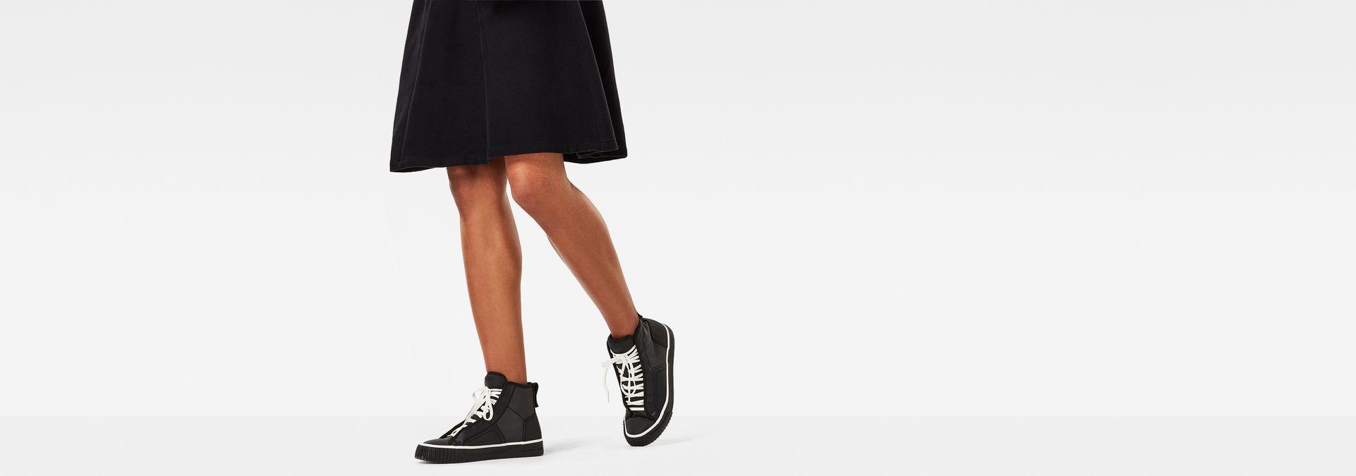 Scuba Reflective Mid Sneakers | Black | Women | G Star RAW®