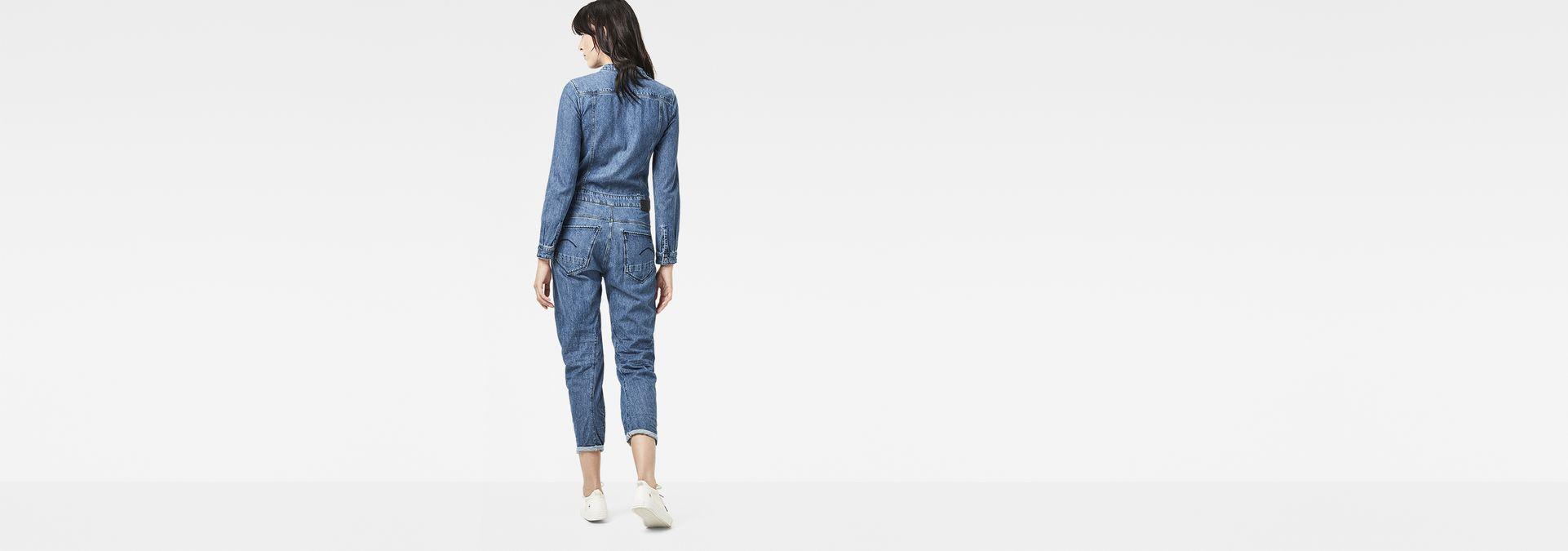 e1478573c48 ... G-Star RAW® Arc 3D Zip Jumpsuit Bleu moyen model back zoom ...