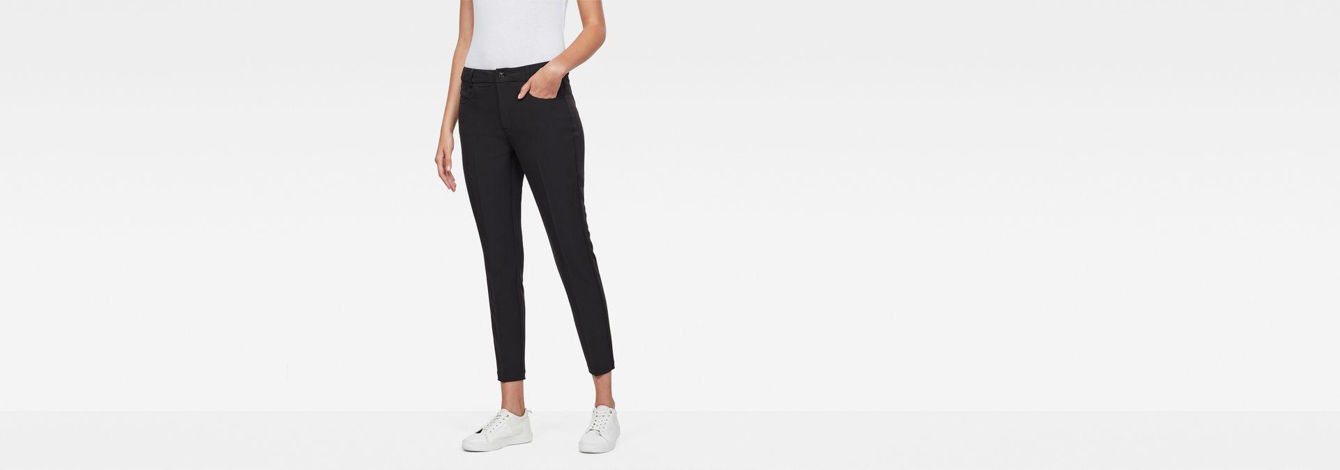 G-Star RAW® D-Staq Mid-Waist Skinny Ankle Chino Black model ... 4c3384dd11daa