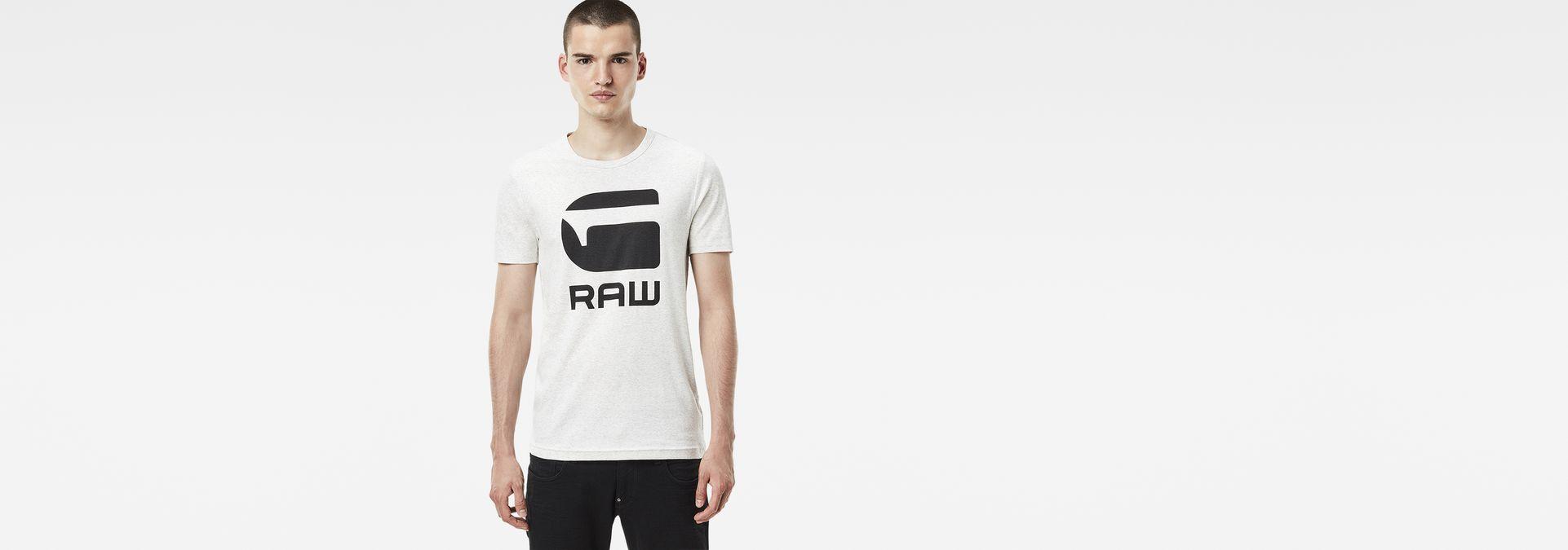 050fd6f85eeb G-Star RAW® Drillon Slim T-Shirt White model front ...