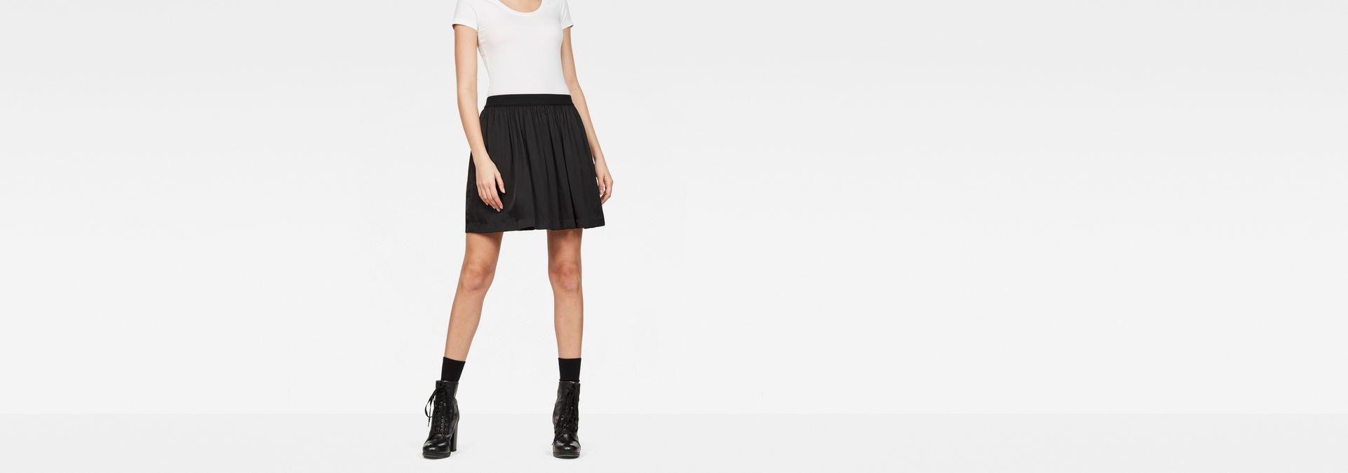 11caa518c66 G-Star Flared Mini Skirt | Dark Black | Women | G-Star RAW®