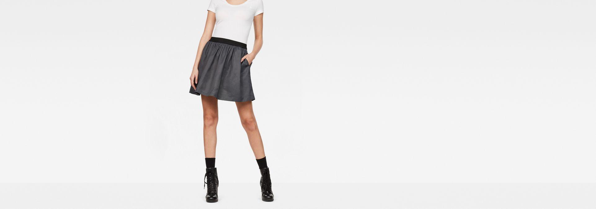 c2ab70178de G-Star Flared Mini Skirt | Black/Mazarine Blue | G-Star RAW®
