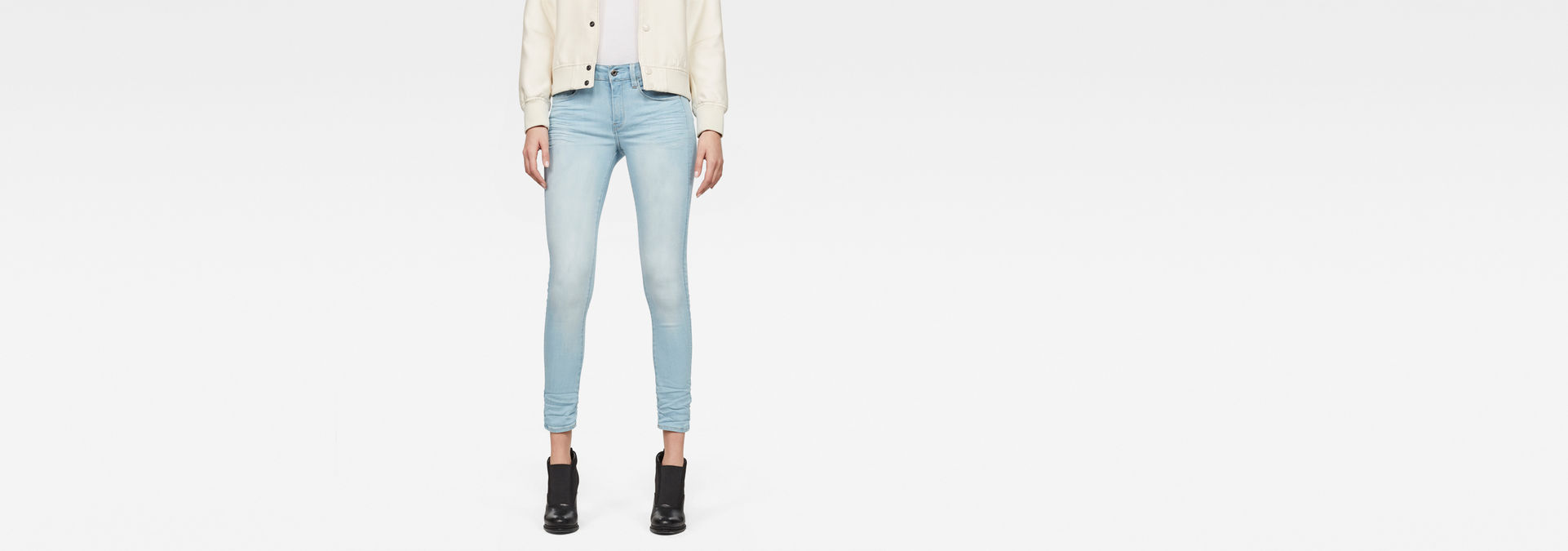 e2ca6bcb34e 3301 D-Mid Skinny Ankle Jeans | Light Aged | Women | G-Star RAW®