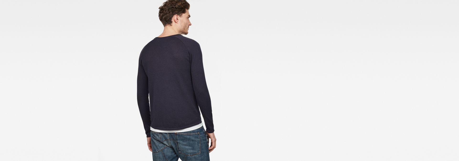 5819dbfa27e ... G-Star RAW® Core straight Knit Dark blue model back ...
