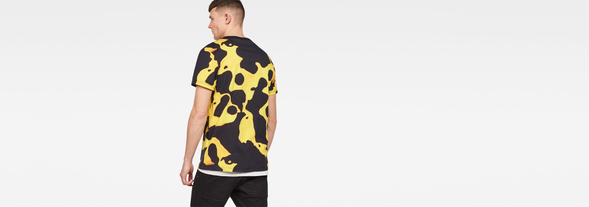 b1ac293a4 ... G-Star RAW® Fian Bumble Frog Patterned T-Shirt Yellow model back ...