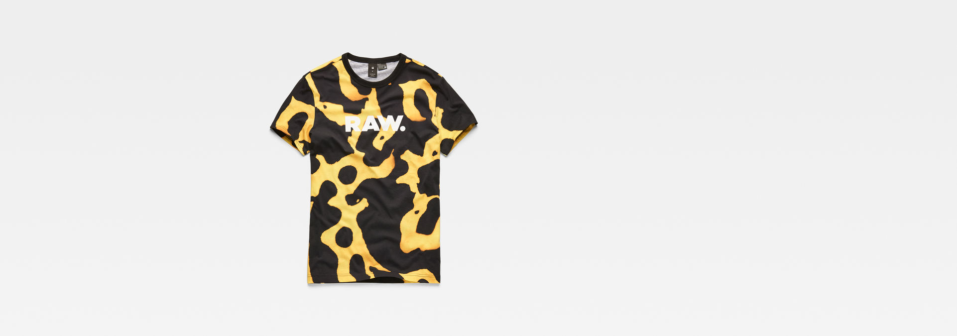 a594cd5bb ... G-Star RAW® Fian Bumble Frog Patterned T-Shirt Yellow flat front ...
