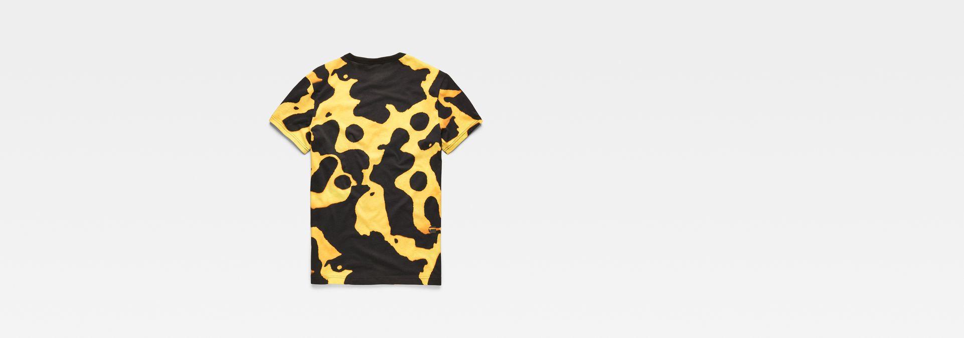 47628c953 ... G-Star RAW® Fian Bumble Frog Patterned T-Shirt Yellow flat back