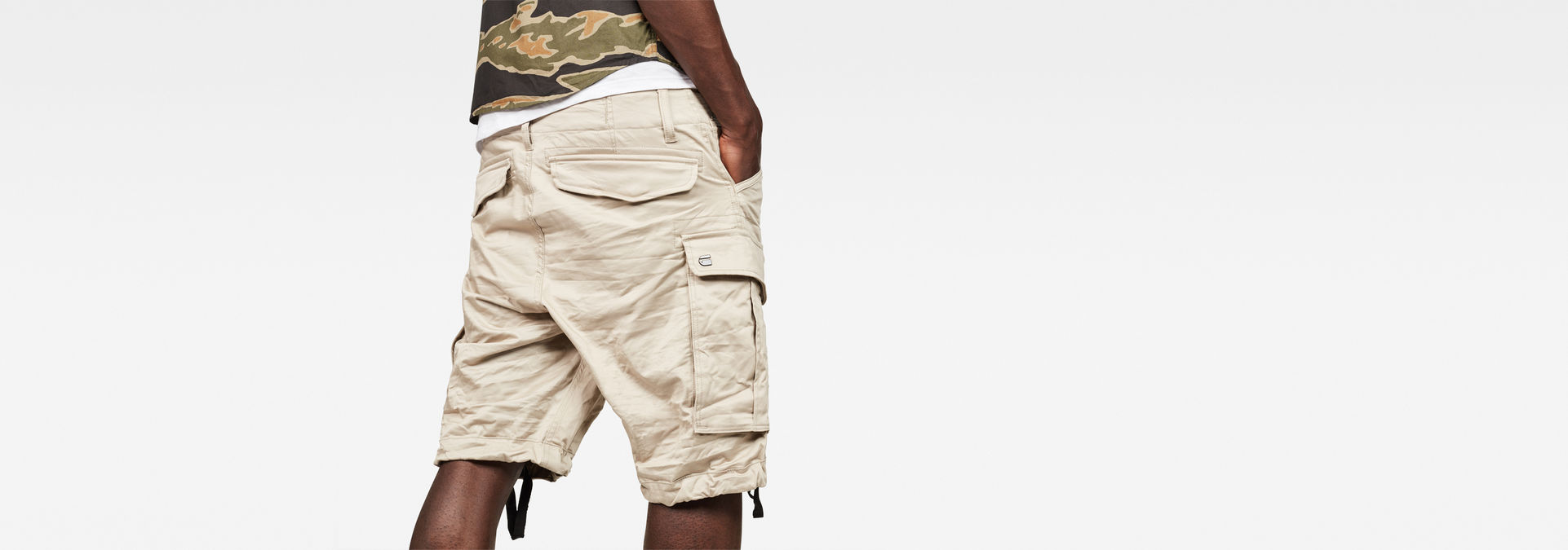 Rovic Zip Relaxed 12 Length Shorts | Dark Brick | G Star RAW®