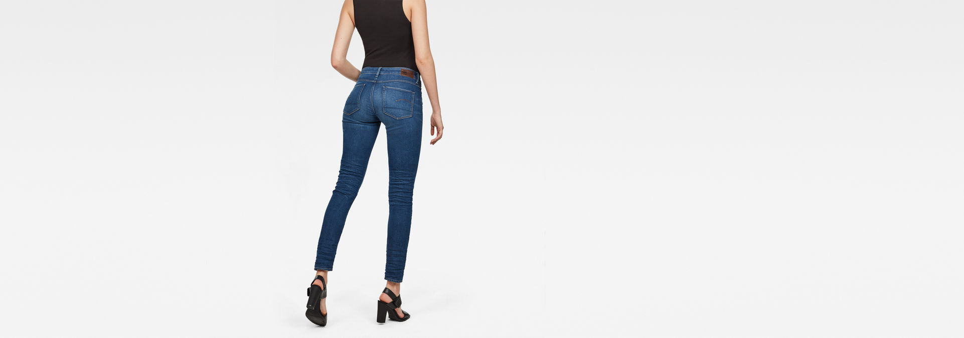 3301 Deconstructed Mid Waist Skinny Jeans | G Star RAW®