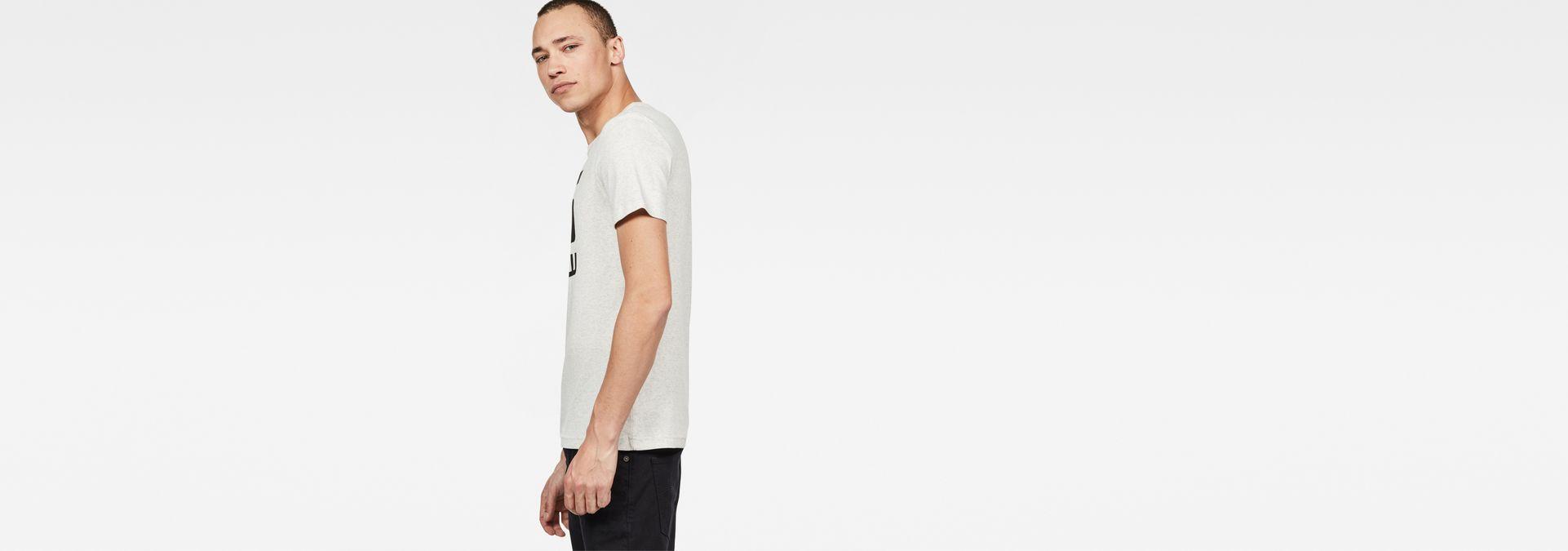 7ffd5d21db3f ... G-Star RAW® Drillon T-Shirt White model side ...