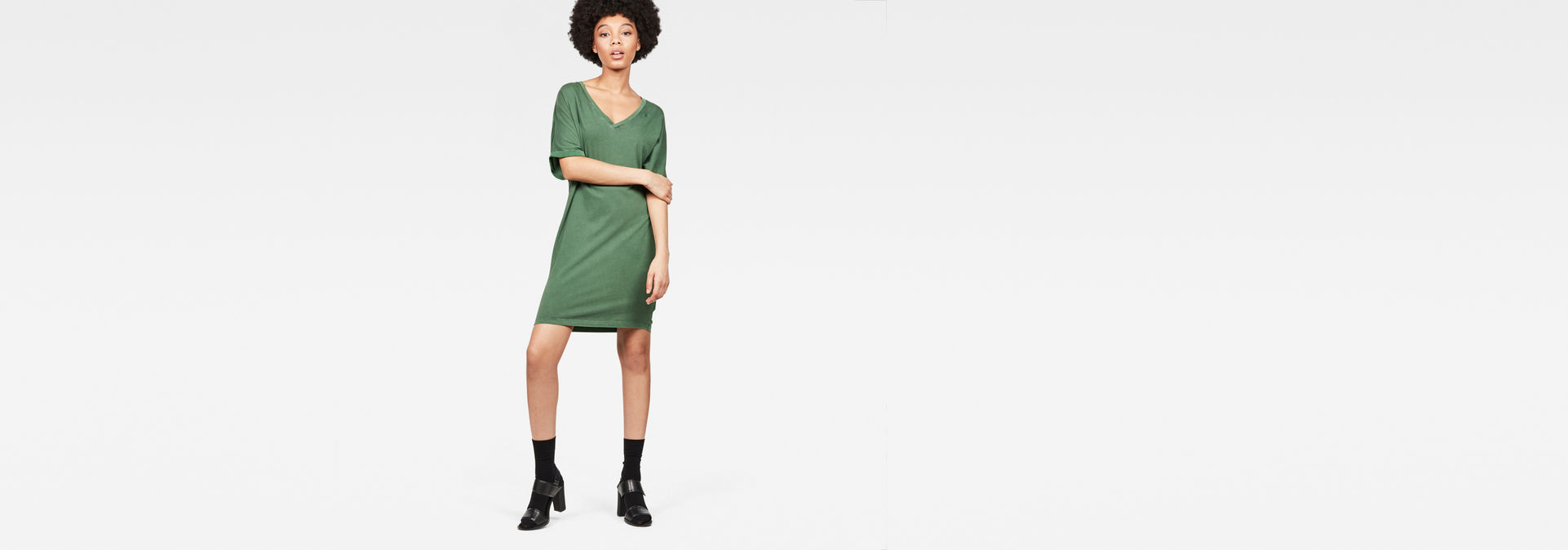 Joosa V Neck Dress by G Star