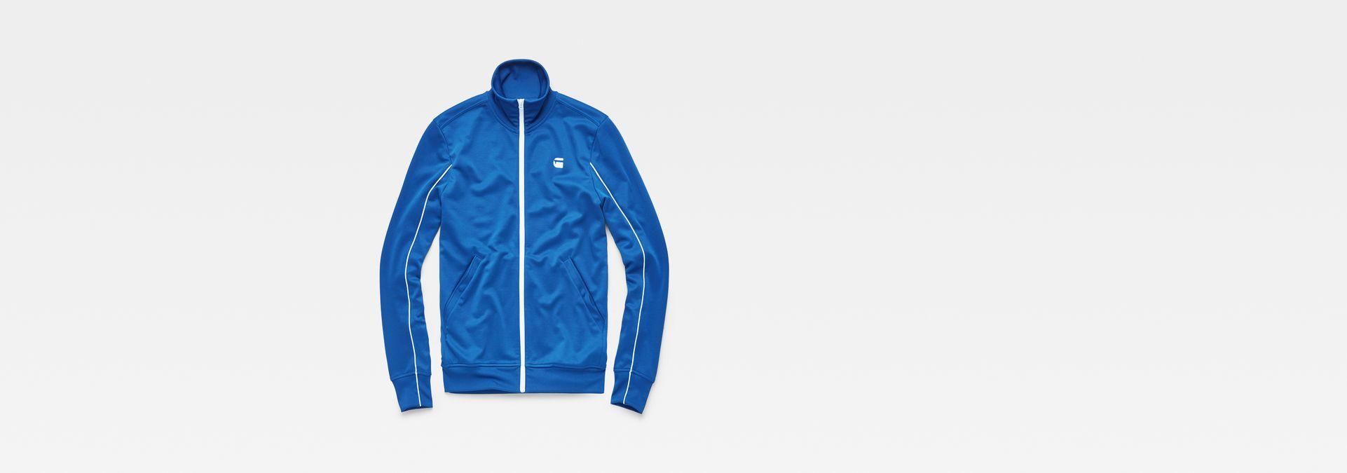 88f3aecc21e ... G-Star RAW® Lanc Slim Tracktop Sweater Azul intermedio flat front ...
