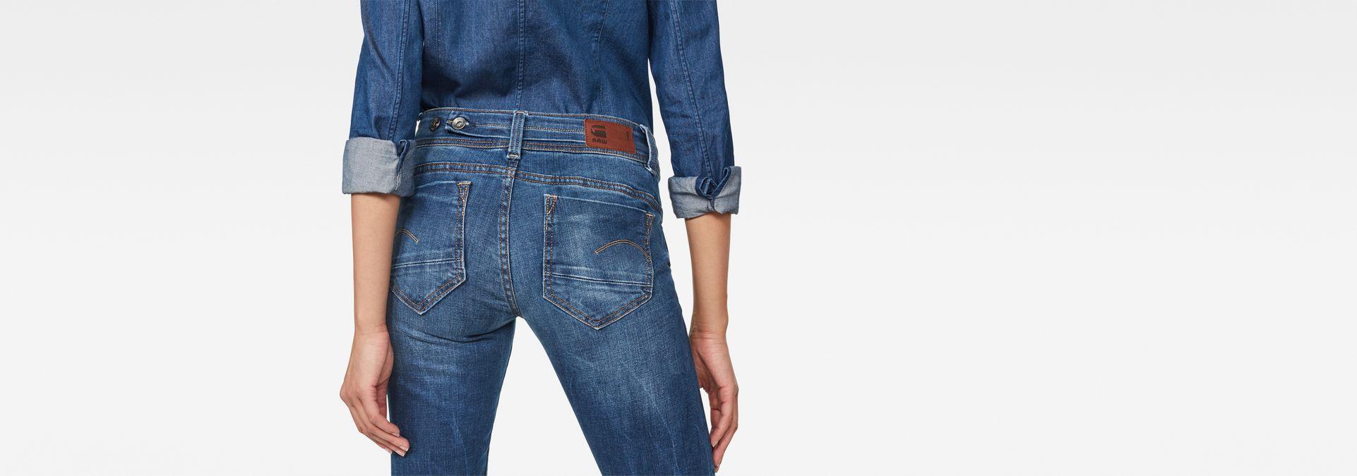 2c23db06a1c ... G-Star RAW® Midge Saddle Mid Waist Straight Jeans Medium blue ...