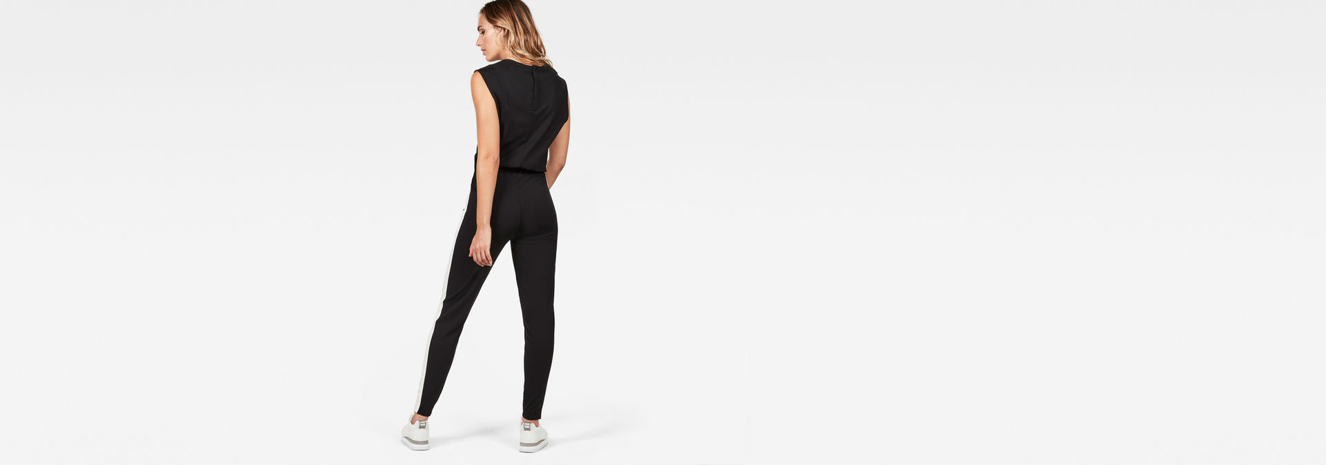7b79ba931f35 ... G-Star RAW® Dundja Sleeveless Jumpsuit Zwart model back zoom ...