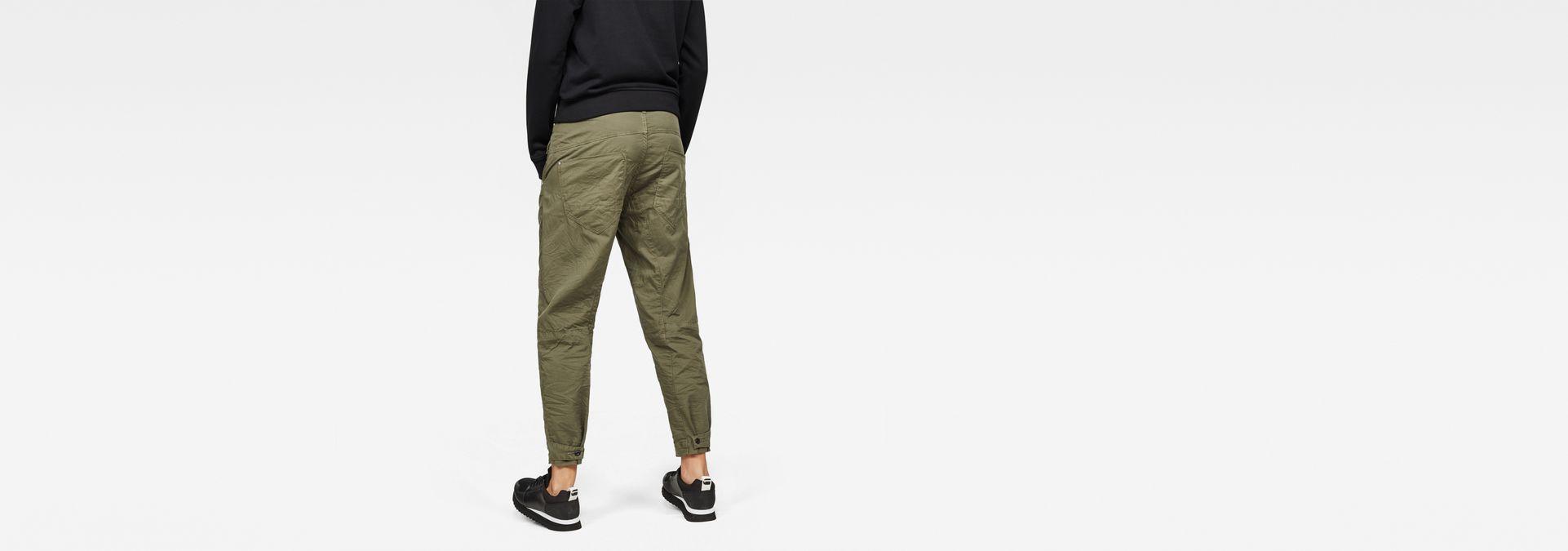 2afd26ec590 ... G-Star RAW® Army Radar Mid Boyfriend Pants Green model back ...