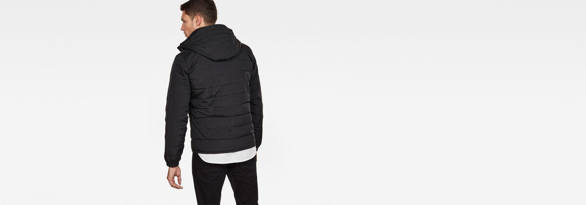Attacc Quilted Hooded Jacket   Dark Black   Hommes   G Star RAW®