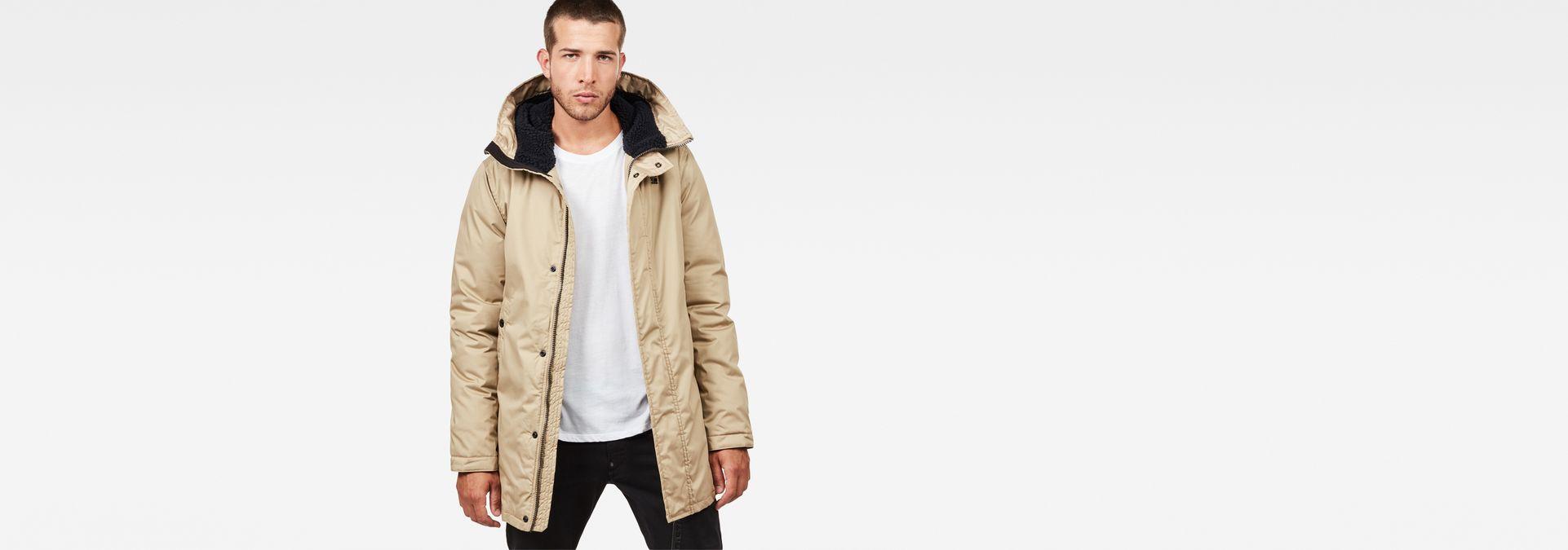 G-Star Whistler Strett Sherpa Hooded Parka Sahara Brown Jacket