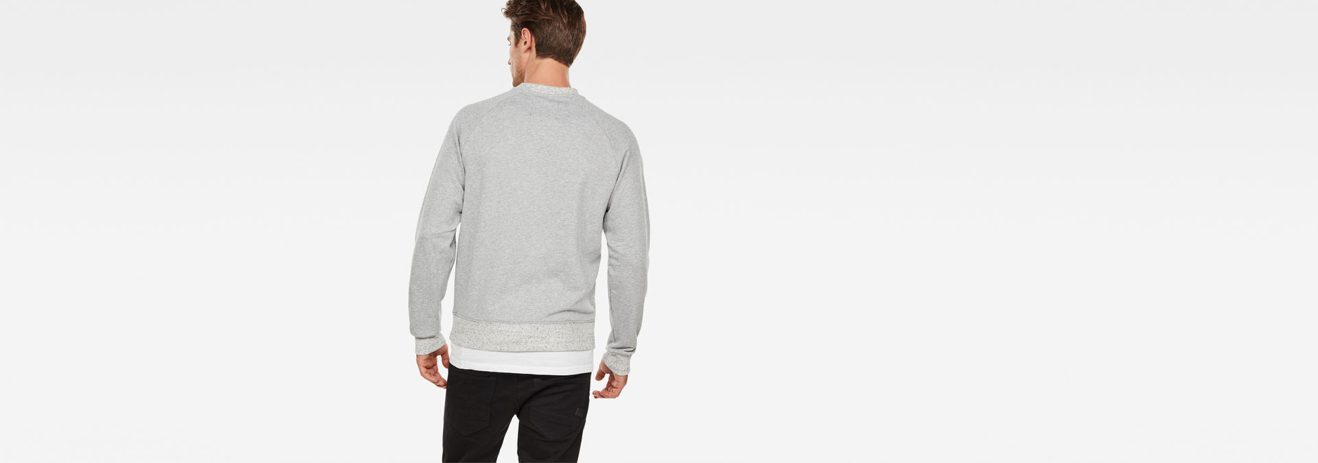 G Star RAW Revir stor raglan sweater grey heather