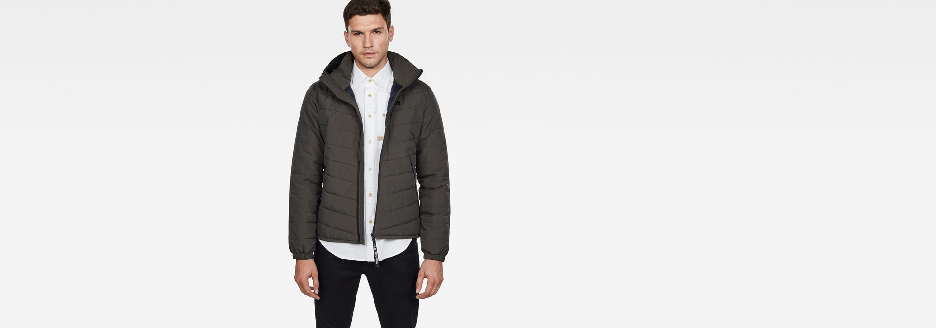 Attacc Quilted Hooded Jacket | Asfalt | Men | G Star RAW®