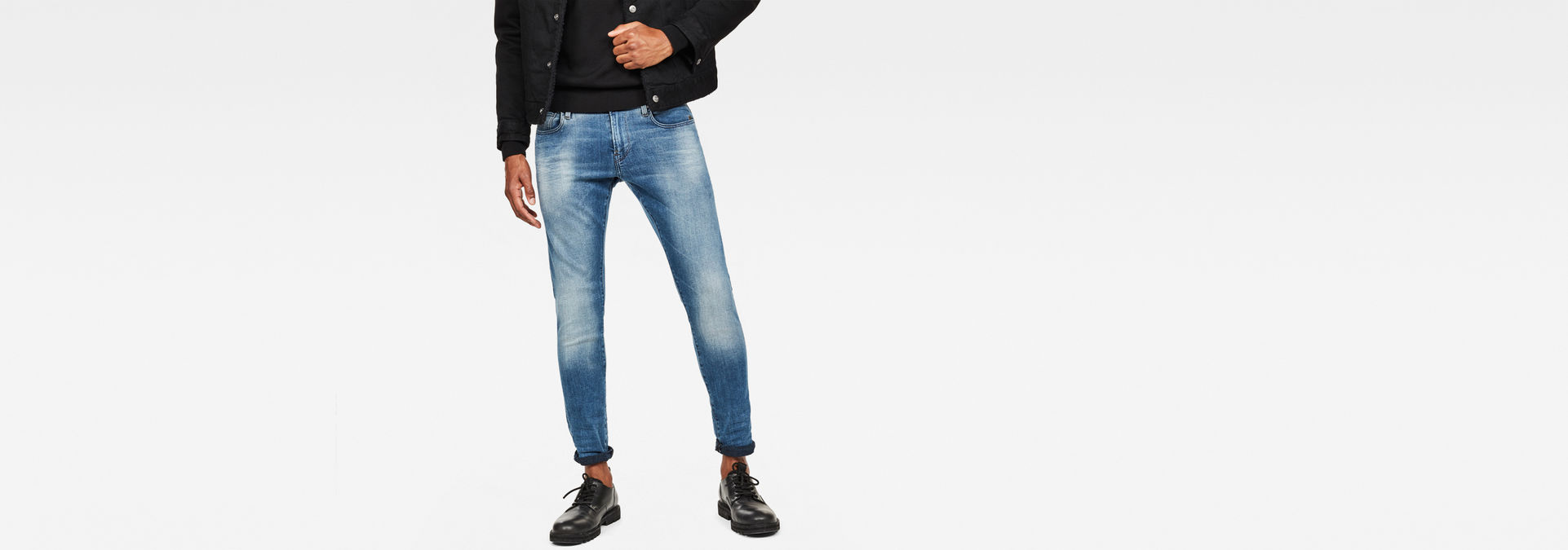 Revend Skinny Jeans   Light Aged Destroy   Herren   G Star RAW®