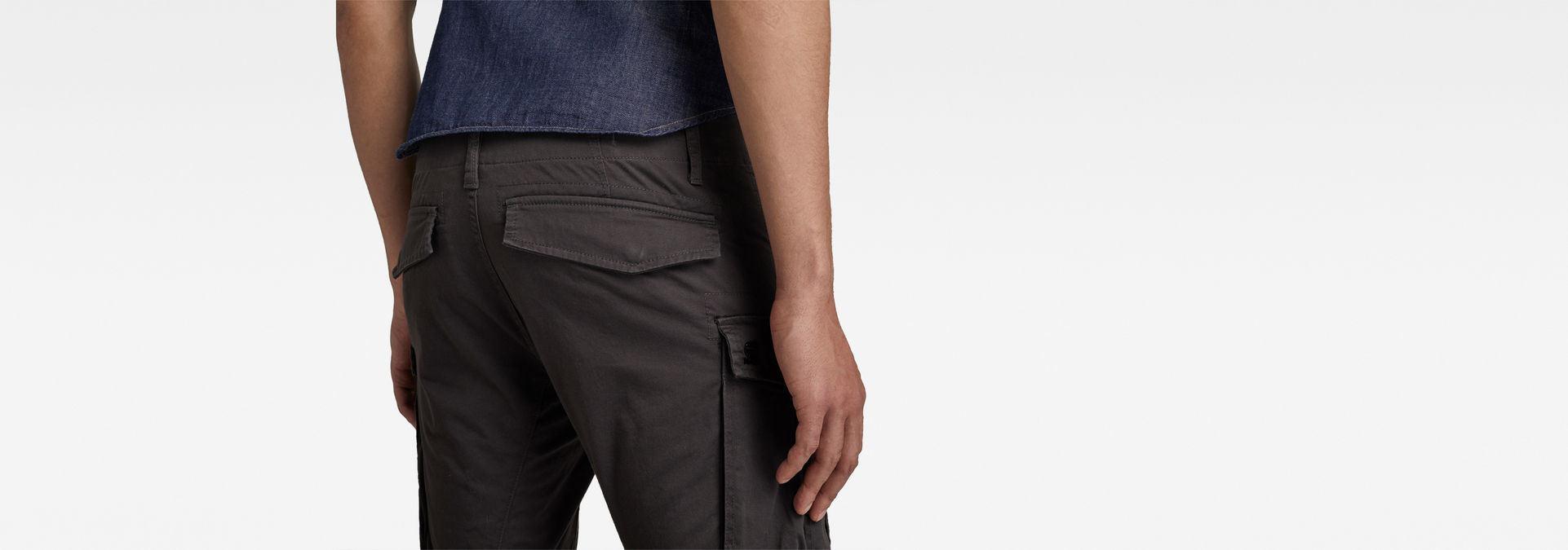 578cee0345e ... G-Star RAW® Rovic Zip 3D Straight Tapered Pant Grey model back zoom ...