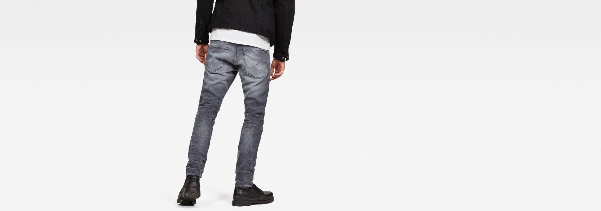 G STAR 3301 Tapered Kess Stretch Jeans voor Heren Grijs