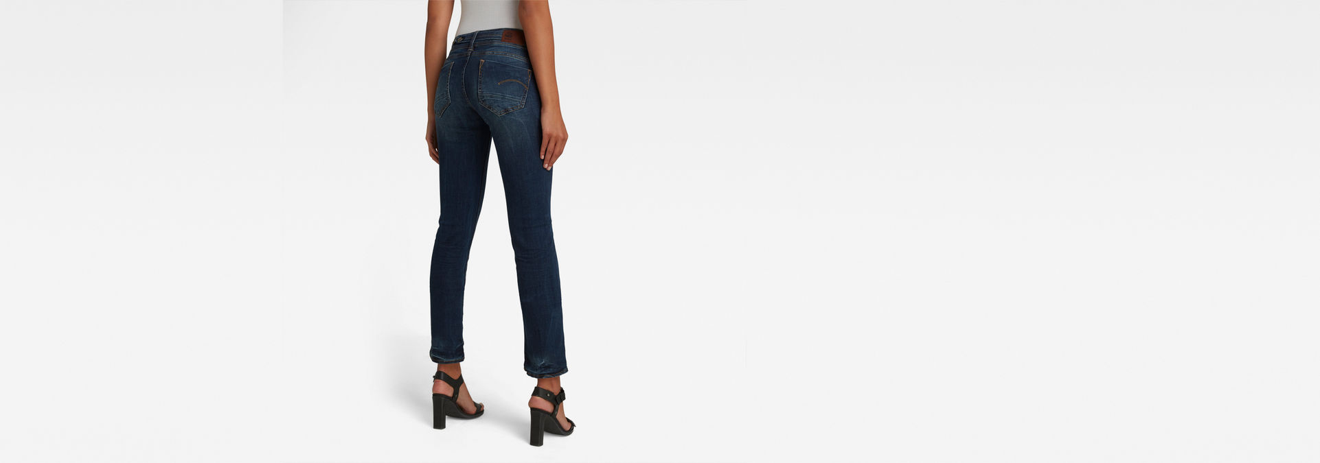 Midge Saddle Straight Jeans | Dark Aged | Femmes | G Star RAW®