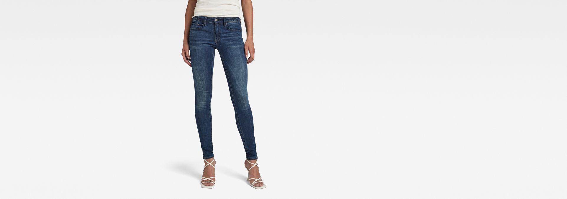 4f372c4d0efe63 G-Star RAW® Midge Zip Mid-Waist Skinny Jeans Dark blue ...