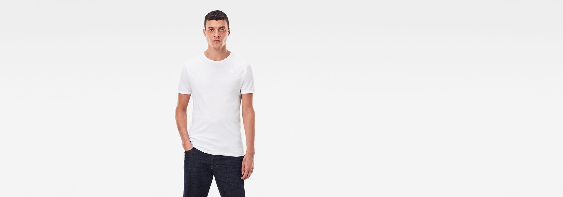 effae04baa2 G-Star RAW® Basic T-Shirt 2-Pack White model front ...