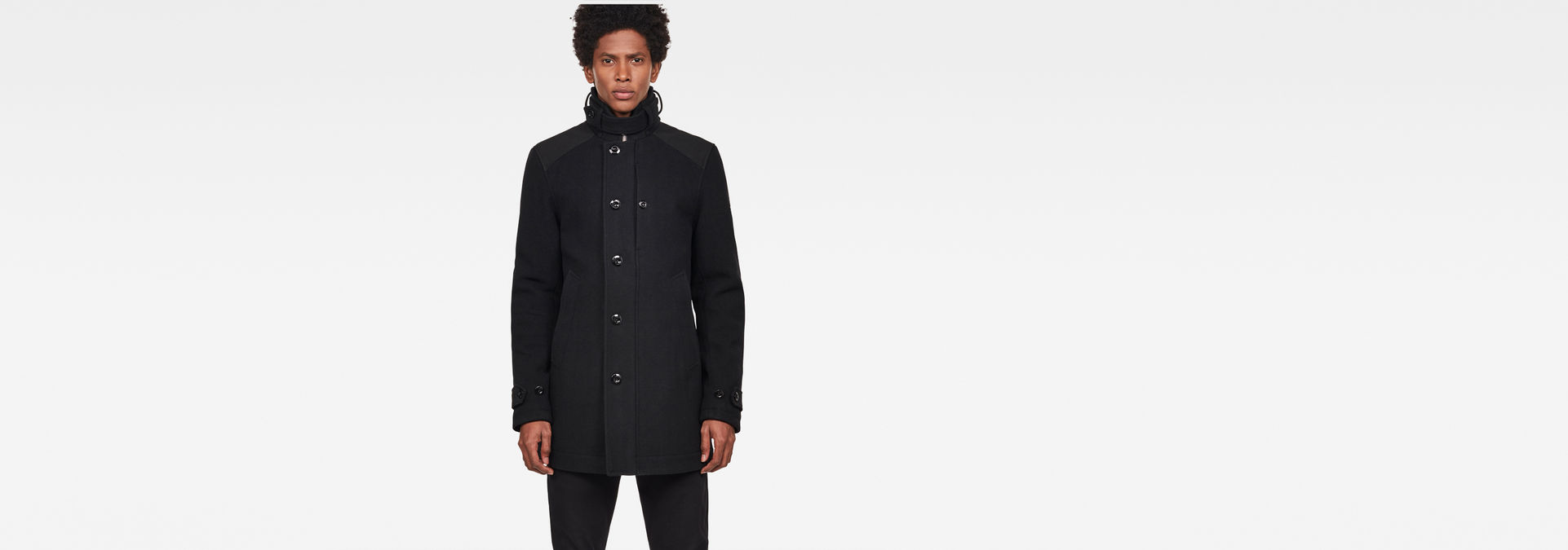 Garber Pm Wool Trench | Dark Black | Hommes | G Star RAW®