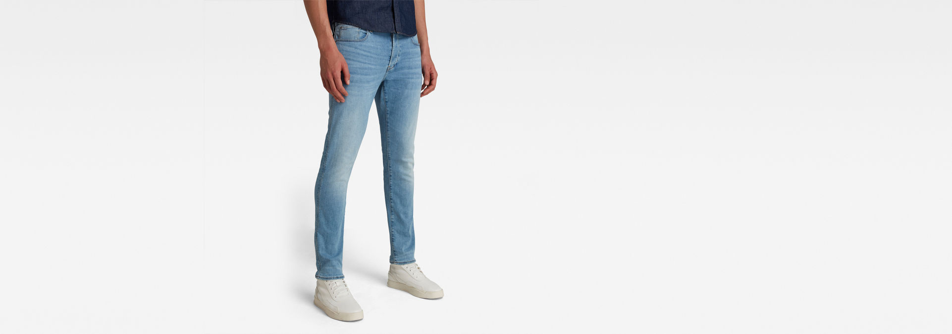 4ebf3f4d 3301 Slim Jeans   Light Indigo Aged   Men   G-Star RAW®