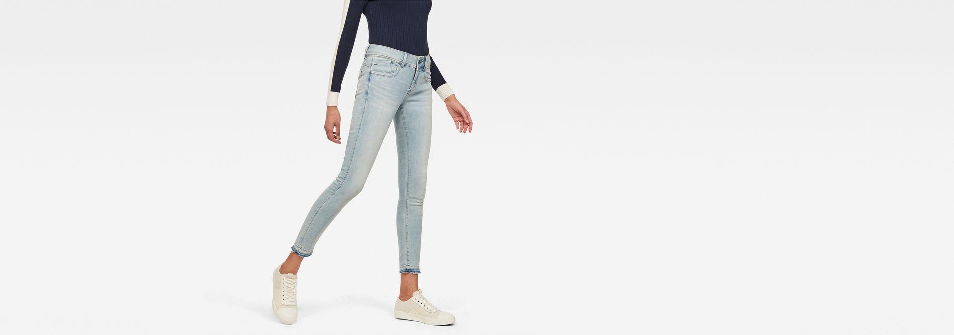 Lynn Mid Waist Skinny Ripped Jeans | G Star RAW®