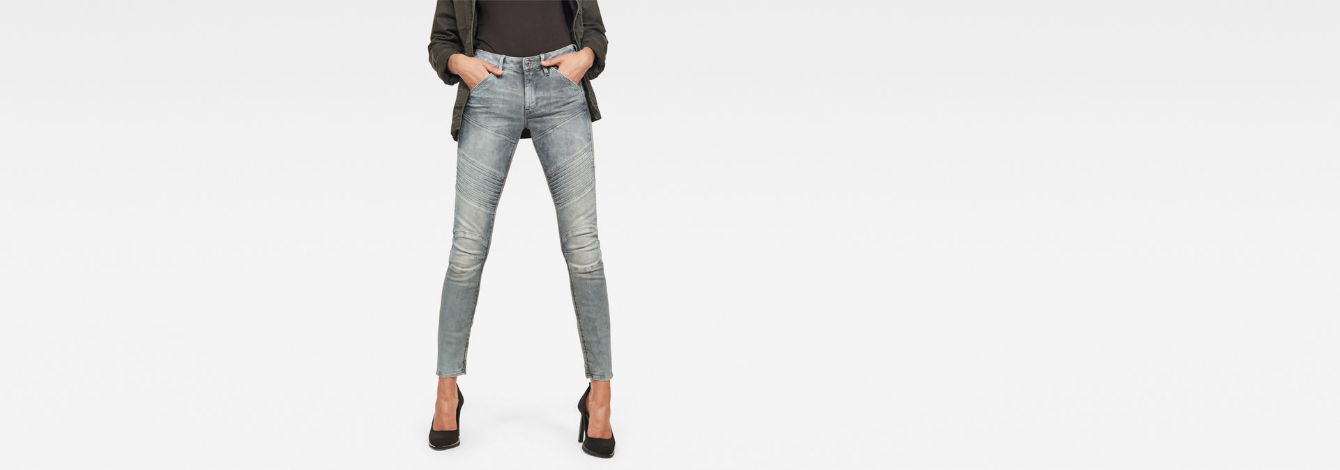 5620 Custom Mid Waist Skinny Jeans | Medium Aged | G Star RAW®
