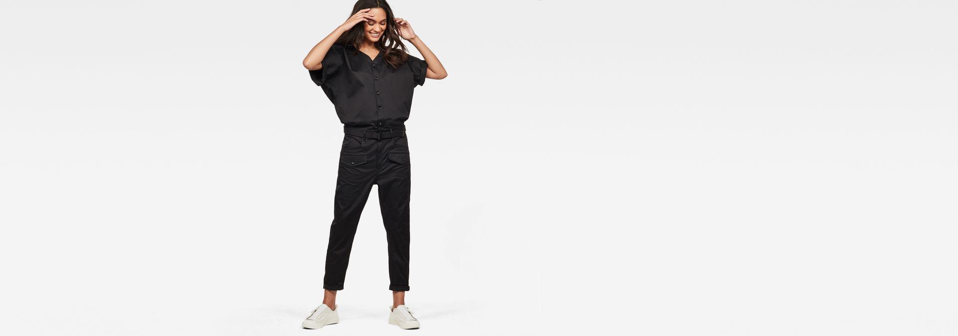 Black G-Star Raw Womens S//S Lorin Jumpsuit