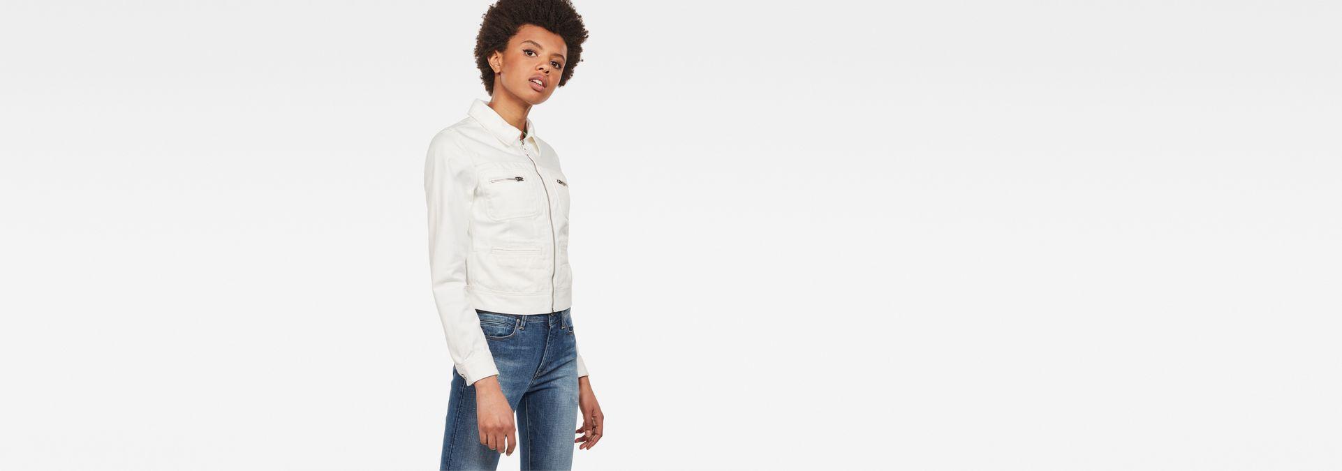 468a3d60b09 D-Staq Zip Denim Jacket | Light Aged | Women | G-Star RAW®