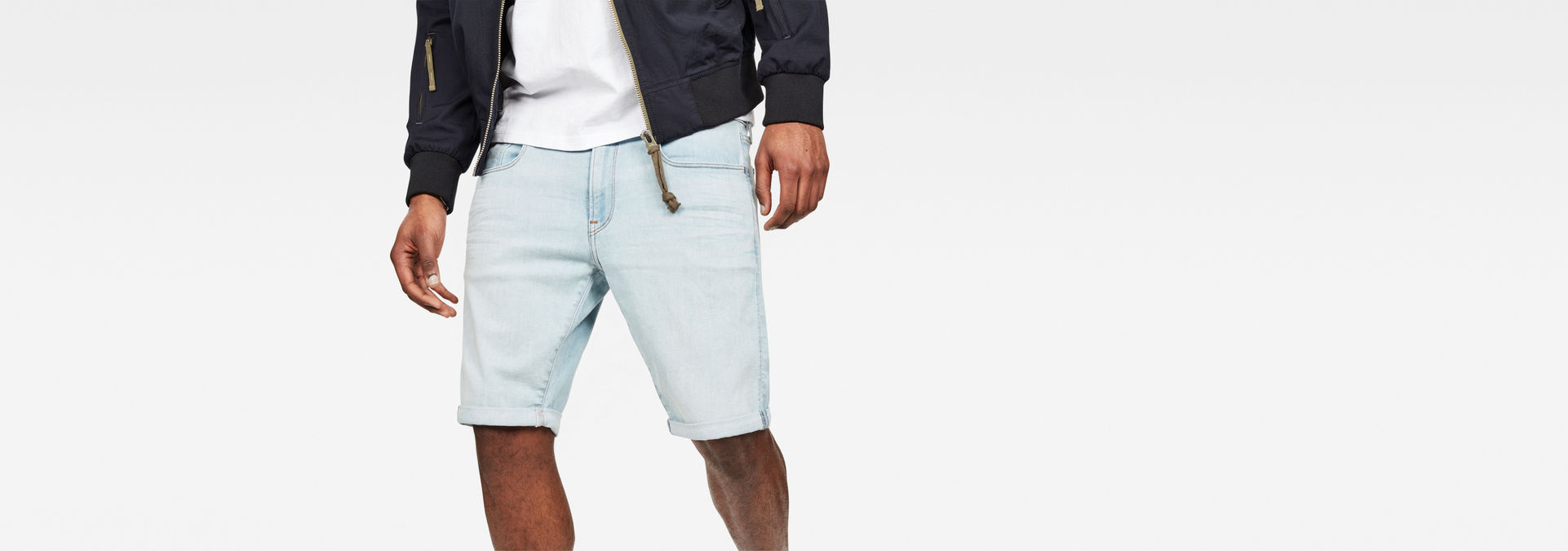 3301 Slim Short | Light Vintage Aged | Heren | G Star RAW®