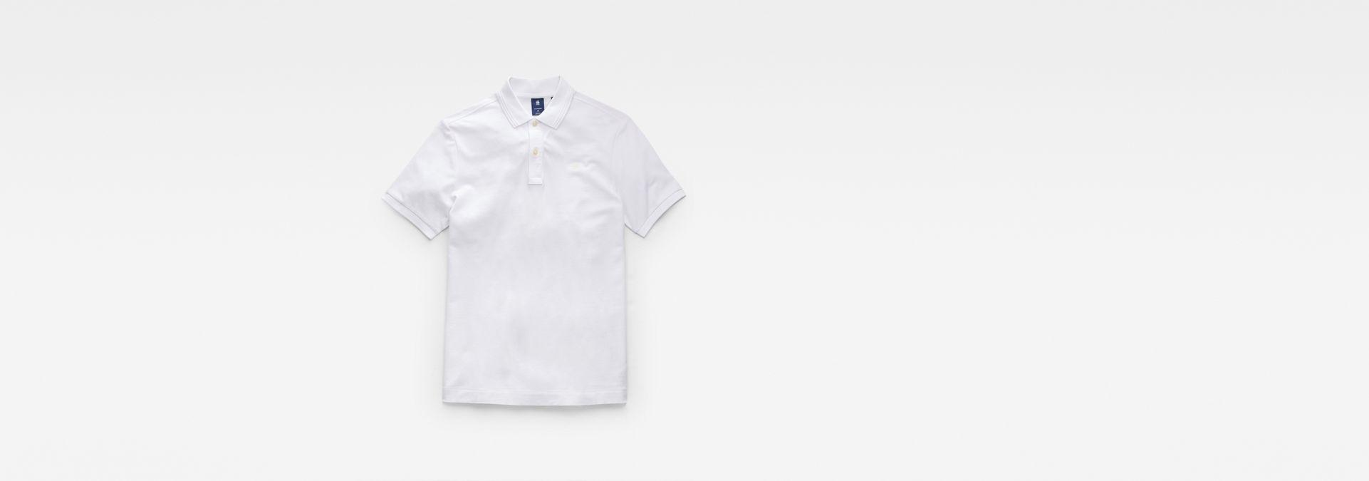 4301b863f5f ... G-Star RAW® Dunda Slim Polo White flat front ...
