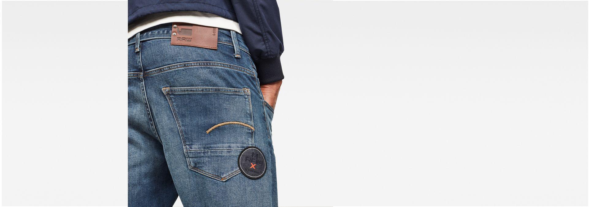 8f8bca98fd9 ... G-Star RAW® MAXRAW II Radar Straight Tapered Jeans Medium blue model  back ...
