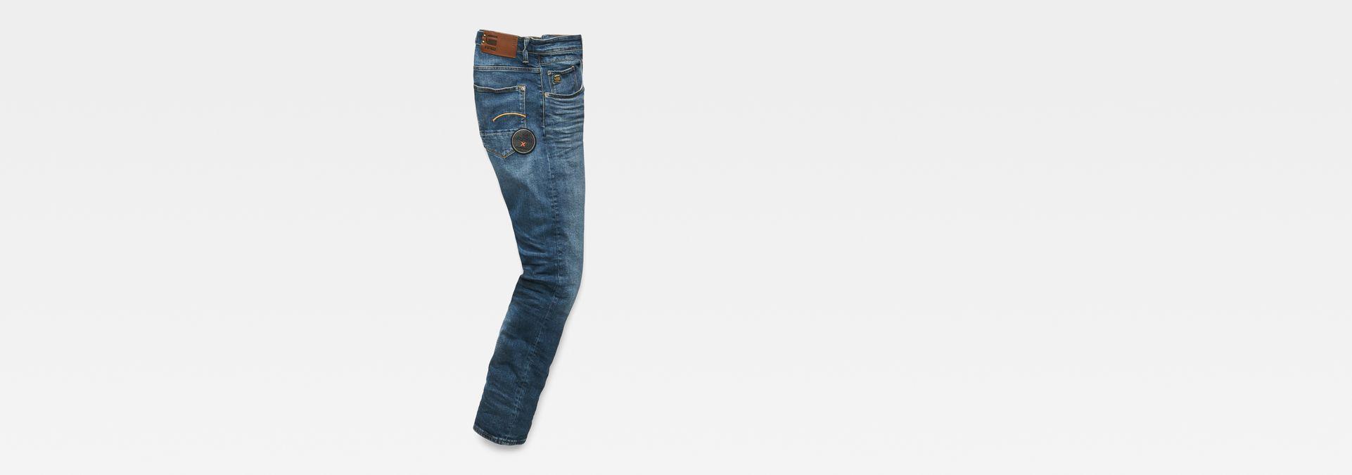f5de0f75c57 ... G-Star RAW® MAXRAW II Radar Straight Tapered Jeans Medium blue flat  back ...