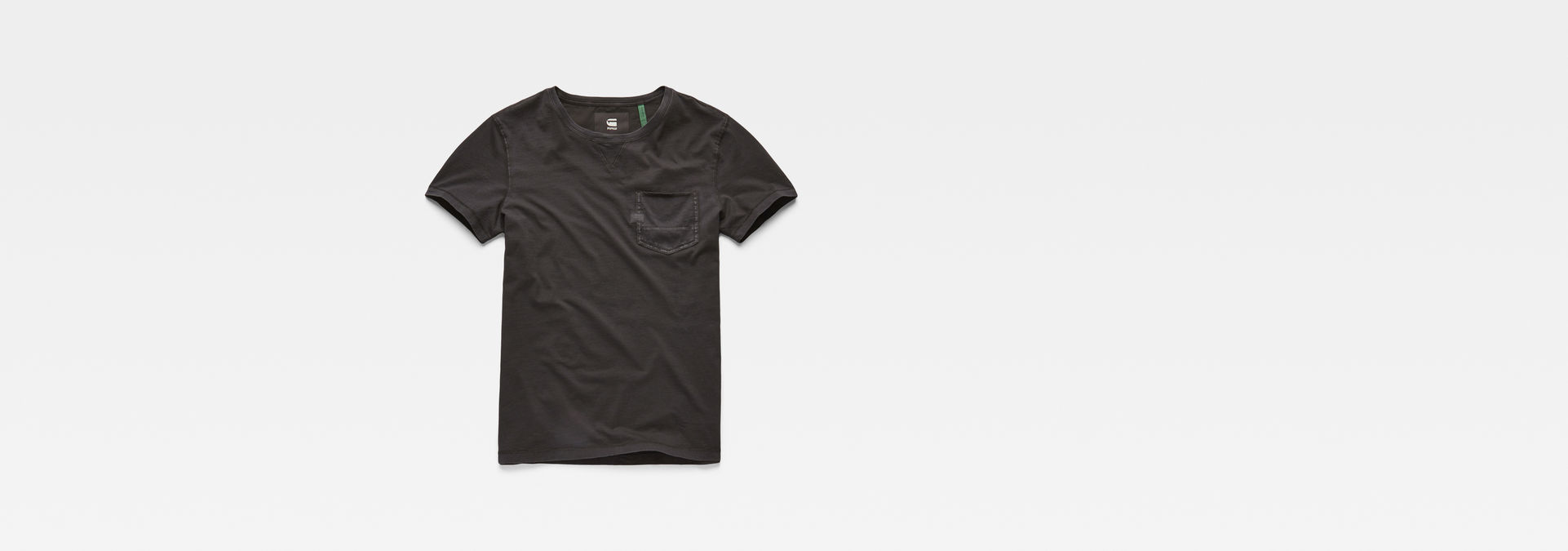 Muon Pocket T Shirt | Dark Black | Men | G Star RAW®