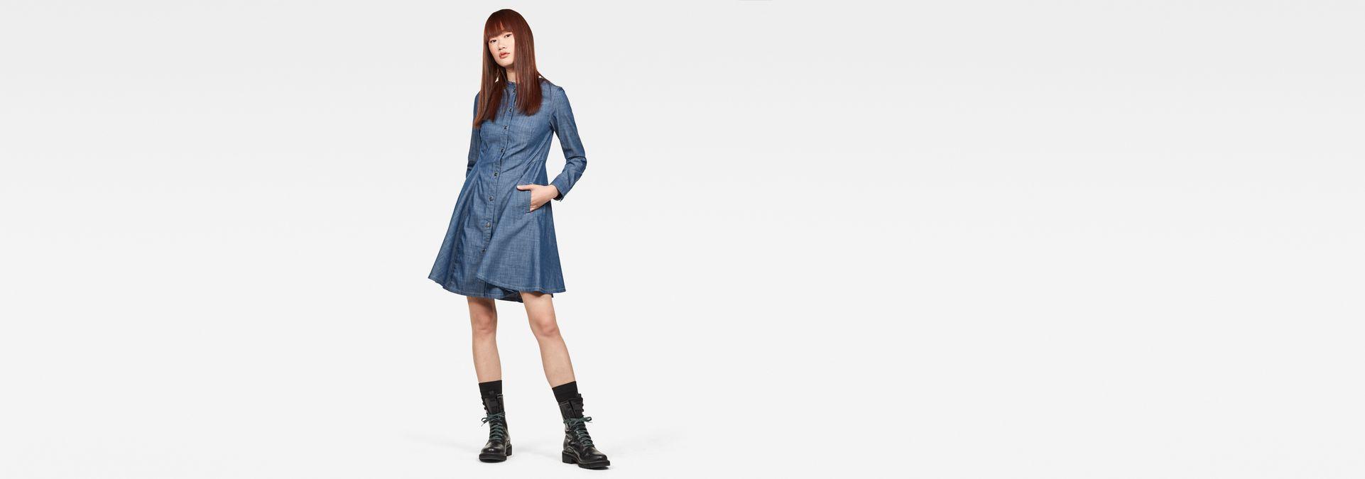 Bristum Slim Flare Fringe Dress by G Star