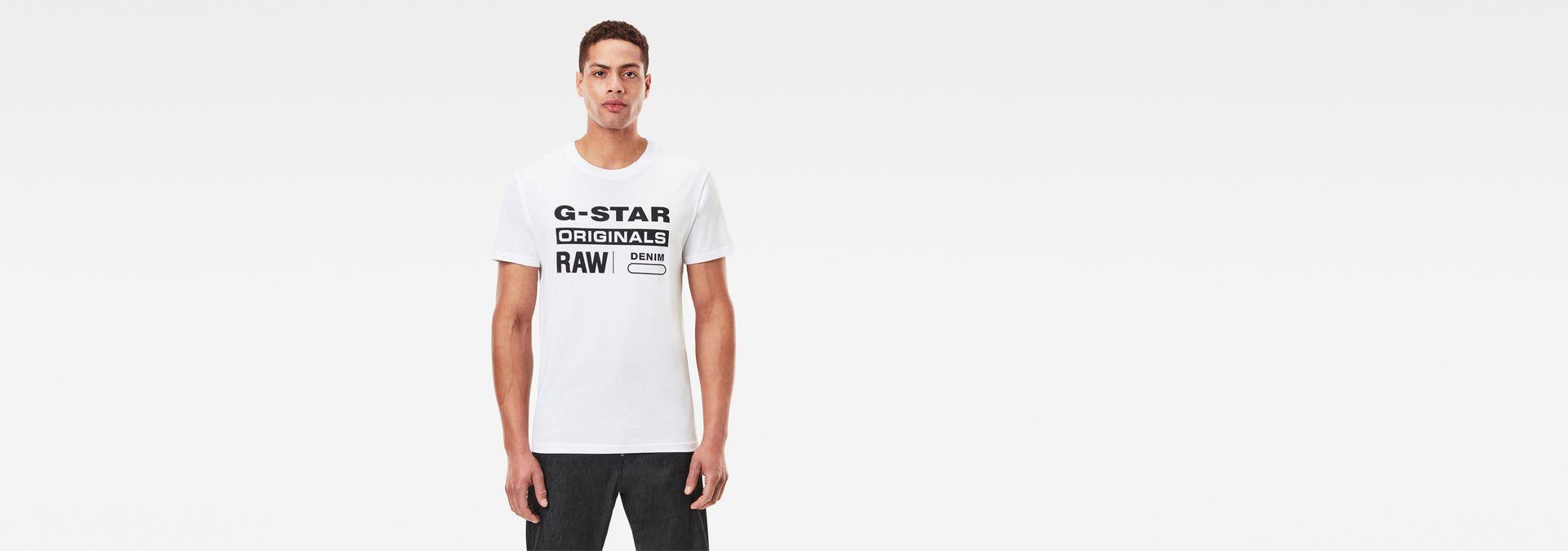 5eca94c506b9 G-Star RAW® Graphic 8 T-Shirt White model front ...