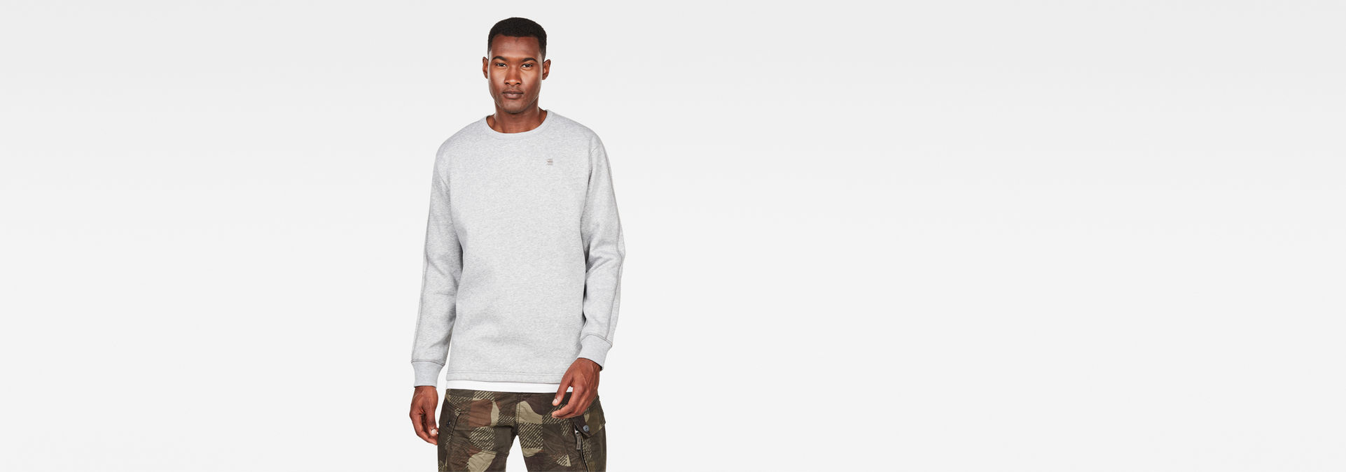 G Star Korpaz Sweater Beige | Mens sweatshirts