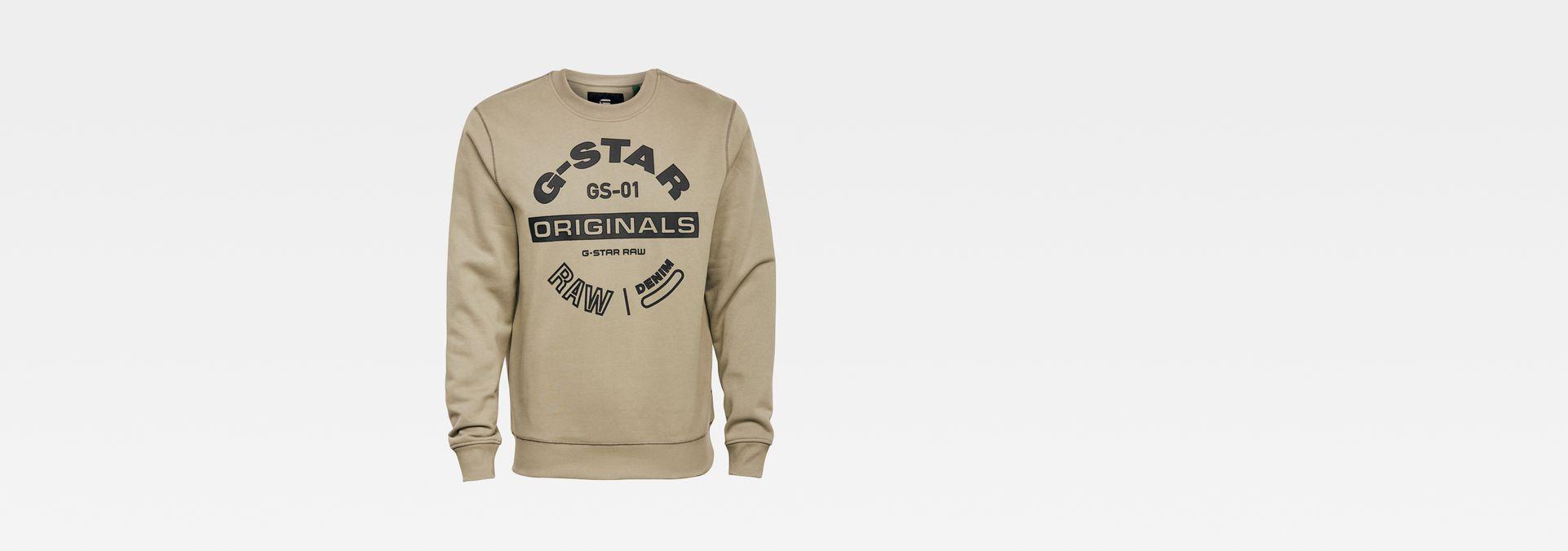 G Star RAW Originals logo GR sweater groen
