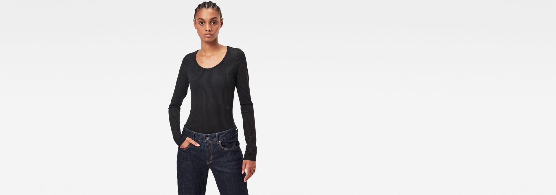 G-STAR RAW Rib Body Slim Camiseta para Mujer