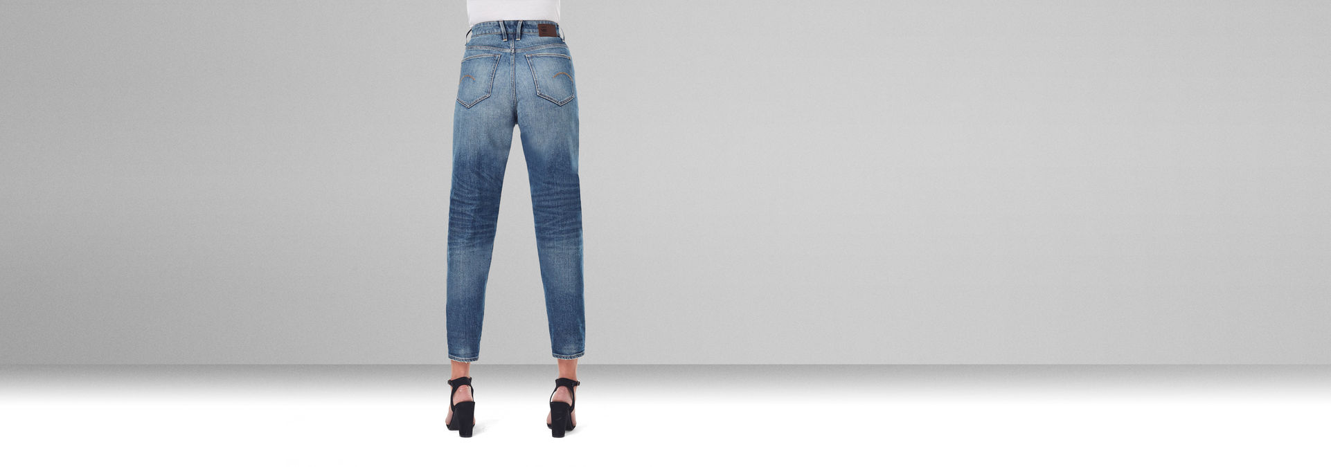 Janeh Ultra High Mom Ankle Jeans   Mittelblau   G Star RAW®